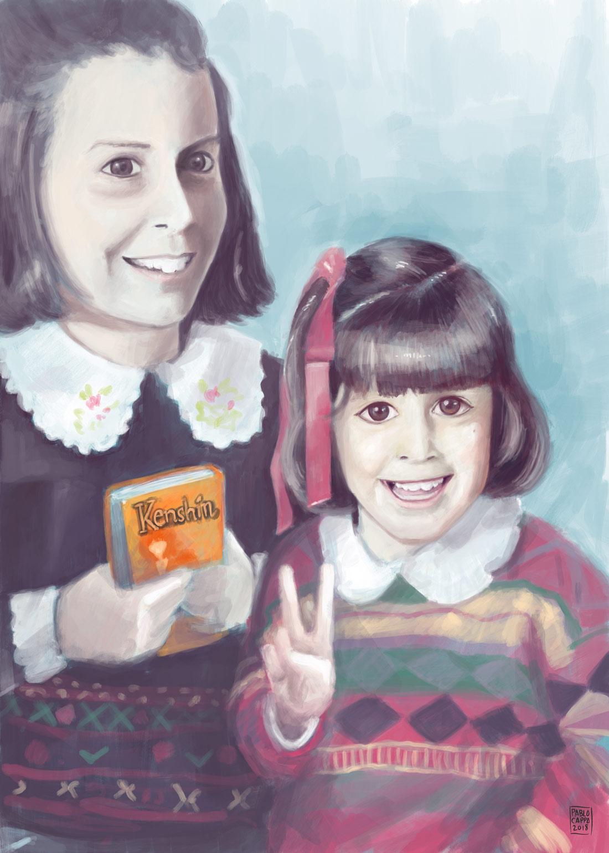 Pintura digital de retrato