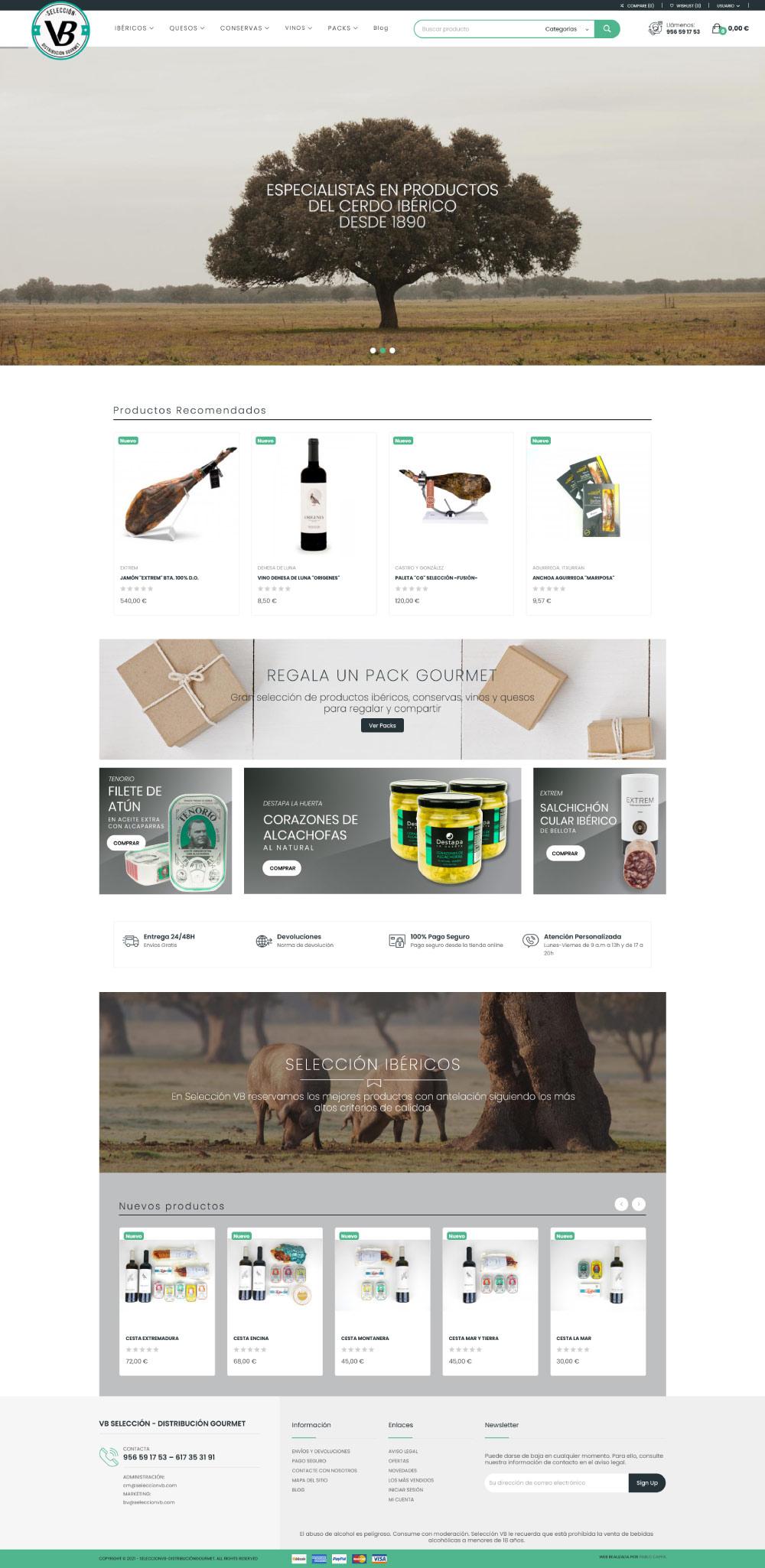 tienda online gourmet cádiz puerto real san fernando
